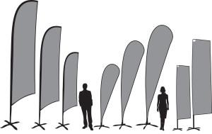 Flying banner product range